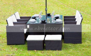 Mtc-059 Outdoor Rattan Dining Set /Kd with Footstool Garden 6 Seat