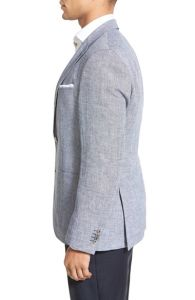 Wholesale OEM Latest Fashion Design Men′s Linen Suit Blazer pictures & photos
