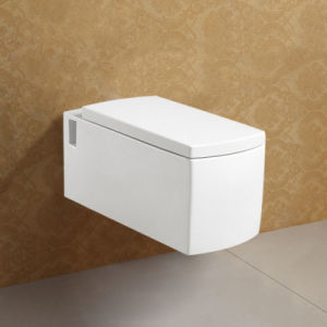 Retangular Soft Closing Cover European Wall Hung Toilet