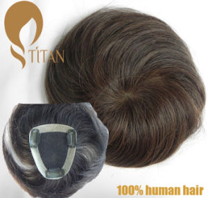 Natural Soft and Silky Human Hairpiece for Man