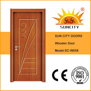Good Price Surface Finish with Painting Wood Door (SC-W058) pictures & photos