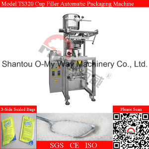 Three Side Seal Pouch PLC Automatic Volumetric Cup Machine pictures & photos