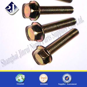 Yellow Zinc Hex Flang Bolt pictures & photos