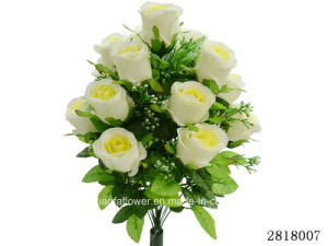 Artificial/Plastic/Silk Flower for Decoration Rose Bush (2818007) pictures & photos