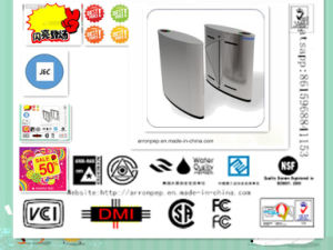 Security System, Door Access Control Stainless Steel IC Cards Remote Control Half Height Turnstile