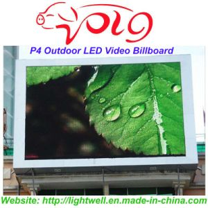 Lightwell Electronic Digital Outdoor Advertising Aluminum LED Video Billboard P4
