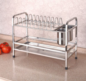 Gfr-328 Stainless Steel 2-Tier Kitchen Dish Drying Rack