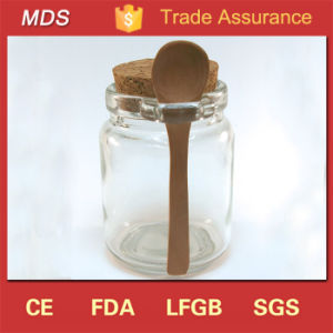 Wholesale Glass Jar with Bamboo Spoon and Cork Lid for Spices, Seasonings pictures & photos