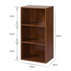 China Wood Color Grain Standard Size Bookshelf