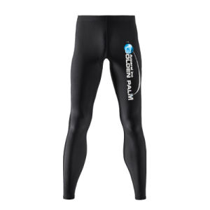 Men Printing Men′s 85% Nylon 15% Spandex Compression Pants Cycling Running Tights pictures & photos