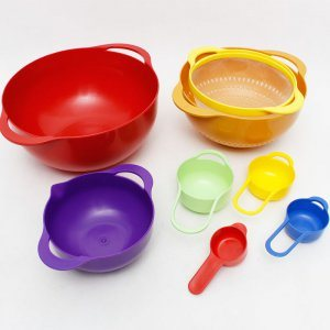8PCS Household Colorful Kitchenware, Bowl Set