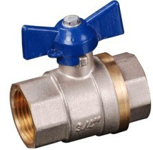 15mm Nickel Plated CE Certified Brass Ball Valve with Butterfly Iron Handle (YED-A1034)