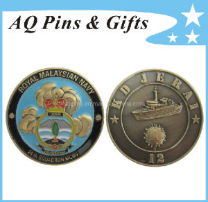 3D Military Souvenir Coin in Antique Plating pictures & photos