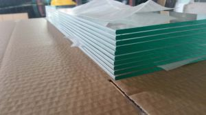 5mm Clear Louvre Glass with Pencil Rounded Edge Work pictures & photos