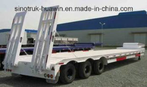3 Axles 80t Cargo Truck Lowbed Semi Trailer pictures & photos