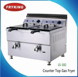 2 Tanks Commercial Kitchen Countertops Gas Fryers pictures & photos