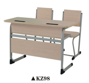 Hot Sale Two Double Seating Student Table and Chair