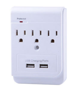 UL Approved American Power Adapter with Dual USB pictures & photos