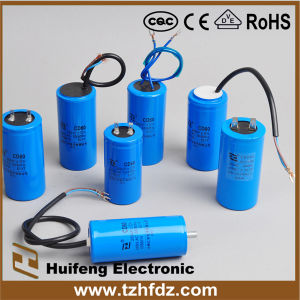 CD60 Motor Start Capacitor with Aluminum Shell pictures & photos