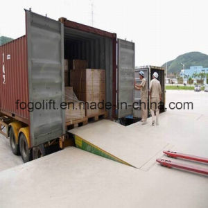 8t Electric Hydraulic Container Loading Ramp pictures & photos