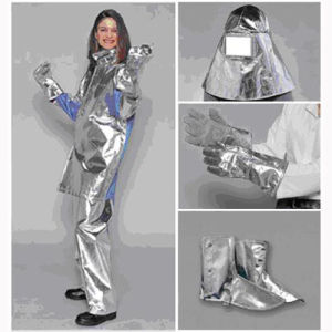 Super Quality Fire Resistant Suit with Aluminum Foil pictures & photos