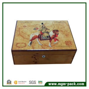 Glossy Piano Painting Wooden Cigar Box with Lock pictures & photos
