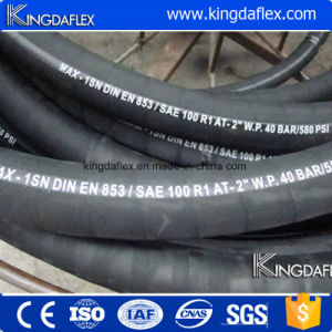 Flexible High Pressure Industrial Hydraulic Rubber Oil Hose SAE100 R2a pictures & photos