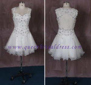 Glamouous Halter Strap Lace Short Dress, Sexy Back Hole with Rhinestone Confirmation Dress,