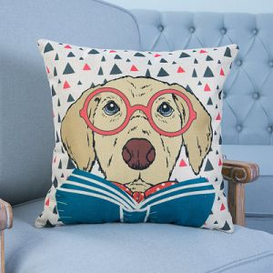 Digital Print Decorative Cushion/Pillow with Cat&Dog Pattern (MX-12A) pictures & photos