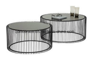 Toughened Glass Black Round Tea Table (M-X3775) pictures & photos