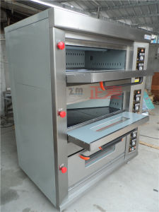 3 Layers and 6 Trays Gas Stainless Steel Door Deck Oven (ZBB-306M) pictures & photos