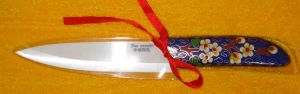 Single 5-Inch Ceramic Knife with Cloisonne Handle (HC-A-1)