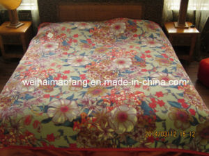 Korean Knitted Raschel Mink Acrylic Blanket pictures & photos