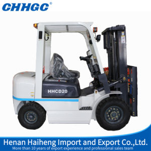 2ton Mini Diesel Forklift Truck Cpcd20 with 20% Grade Ability