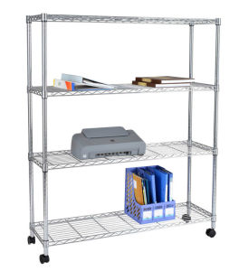4 Layers Metal Mobile Wire Rack Shelving pictures & photos