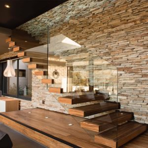Slattery Modern Floating Staircase with Stainless Steel Glass Railing pictures & photos