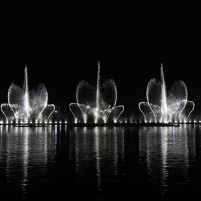 Flower Music Water Fountain
