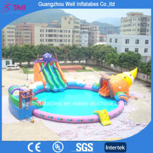 China New Design Inflatable Water Pool and Slide Combo for Water