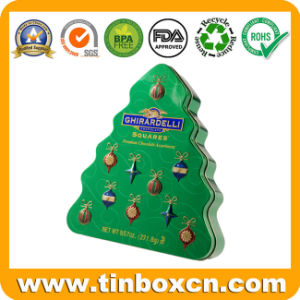 Christmas Tree Shape Chocolate Tin for Gift, Chocolate Tin Box pictures & photos
