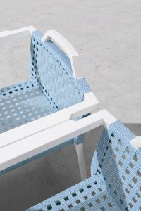 Webbing Outdoor Stacking Dining Chair P-Fp0299