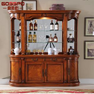 French Style Hot Sale Antique Wood Wine Rack Cabinet (GSP19 002)