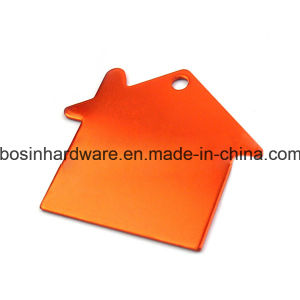 Colored House Shaped Anodized Aluminum Name ID Tag pictures & photos