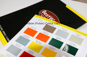 Free Design Gloss Finish Paint Shade Card pictures & photos