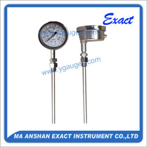 Exhaust Thermometer-Gas Filled Thermometer-All Ss Temperature Gauge