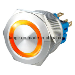 25mm Flat Head Vandal Resistant Momentary 1no1nc LED Push Button Switch pictures & photos
