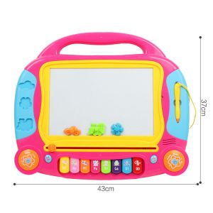 Kids Writing Board Colored Magnetic Drawing Board Toy with Music pictures & photos