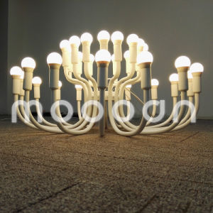 Modern European Iron Metal Art Decorative White Blossoming Flower E14 LED Chandelier