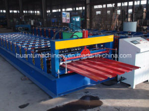Steel Color Corrugated Roof Sheet Roll Forming Machine pictures & photos