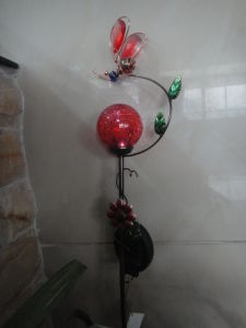 Metal Flower Shape Crafts with Solar Power Lights pictures & photos