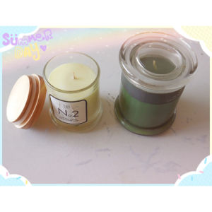 Scented Glass Jar Candle with Lid